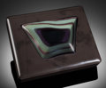Lapidary Art:Boxes, RAINBOW OBSIDIAN BOX. Handcrafted in Italy. Stone source: Mexico. ...
