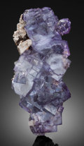 Minerals:Cabinet Specimens, PURPLE FLUORITE with QUARTZ . Yaogangxian Mine, Yaogangxian W-SnOre Field, Yizhang Co., Chenzhou Pref., Hunan Prov., Chin...(Total: 2 Items)