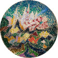 Fine Art - Painting, American:Modern  (1900 1949)  , JOSEPH STELLA (American, 1877-1946). Pointillist Abstraction(Flowers), circa 1913-14. Oil on canvas. 10-3/4 inches (27....