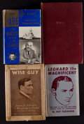 Boxing Collectibles:Autographs, Vintage Boxing Signed Hardcover Books Lot of 4....