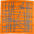 "Luxury Accessories:Accessories, Hermes 90cm Orange ""Bolduc,"" by Jean Louis Dumas Silk Scarf.Pristine Condition. 36"" Width x 36"" Length. ..."