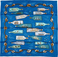 "Luxury Accessories:Accessories, Hermes 70cm Blue & Green ""Bouteilles a la Mer,"" by Pierre Peron Silk Scarf . Excellent Condition . 28"" Width x 28"" Len..."
