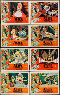 "Alice in Wonderland (RKO, 1951). Lobby Card Set of 8 (11"" X 14""). Animation. ... (Total: 8 Items)"
