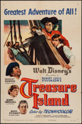 "Movie Posters:Adventure, Treasure Island (RKO, 1950). One Sheet (27"" X 41"") & Pressbook(16 Pages, 12"" X 18""). Adventure.. ... (Total: 2 Items)"