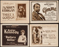 """Movie Posters:Drama, Dollars and Sense & Others Lot (Goldwyn, 1920). Title Lobby Cards (4) (11"""" X 14""""). Drama.. ... (Total: 4 Items)"""