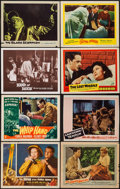 "Movie Posters:Science Fiction, The Brain from Planet Arous & Others Lot (Howco, 1957). LobbyCards (7) (11"" X 14"") & Trimmed Lobby Card (11"" X 13.25"").Sci... (Total: 8 Items)"