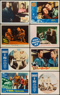 """Movie Posters:Science Fiction, The Time Travelers & Others Lot (American International, 1964).Autographed Lobby Card & Lobby Cards (7) (11"""" X 14""""). Scienc...(Total: 8 Items)"""