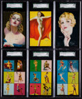 """Non-Sport Cards:Sets, 1940's Mutoscope """"Yankee Doodle Girls"""" Near Set (25/32). ..."""
