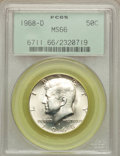 Kennedy Half Dollars: , 1968-D 50C MS66 PCGS. PCGS Population (355/25). NGC Census:(199/9). Mintage: 246,951,936. Numismedia Wsl. Price for proble...