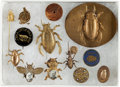 Political:Pinback Buttons (1896-present), William McKinley: Assortment of Gold Bug Theme Items....