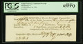 Colonial Notes:Connecticut, Connecticut February 19, 1791 Ralph Pomeroy Comptroller ReceiptPCGS Gem New 65PPQ.. ...