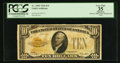 Small Size:Gold Certificates, Fr. 2400 $10 1928 Gold Certificate. PCGS Apparent Very Fine 35.. ...