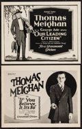"""Movie Posters:Crime, If You Believe It, It's So & Other Lot (Paramount, 1922). TitleLobby Cards (2) (11"""" X 14""""). Crime.. ... (Total: 2 Items)"""