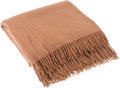 "Luxury Accessories:Home, Hermes Camel Cashmere Throw Blanket . Excellent Condition .59"" Width x 79"" Length . ..."