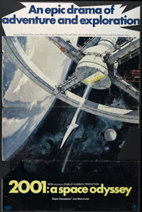 "2001: A Space Odyssey (MGM, 1968). Standee (38"" X 57.5""). Science Fiction. Directed by Stanley Kubrick. Starri..."