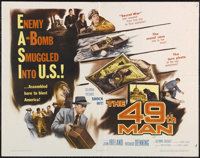 """The 49th Man (Columbia, 1953). Half Sheet (22"""" X 28""""). Spy Thriller. Directed by Fred F. Sears. Starring John..."""