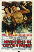 "Movie Posters:Swashbuckler, Adventures of Captain Fabian (Republic, 1951). One Sheet (27"" X 41""). Adventure. Directed by William Marshall. Starring Erro..."