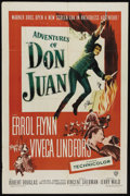 "Movie Posters:Swashbuckler, The Adventures of Don Juan (Warner Brothers, 1948). One Sheet (27"" X 41""). Adventure. Directed by Vincent Sherman. Starring ..."