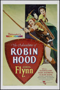 "Movie Posters:Adventure, The Adventures of Robin Hood (Warner Brothers, R-1976). One Sheet(27"" X 41""). Adventure. Directed by Michael Curtiz and Wil..."