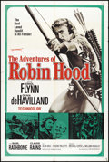 "Movie Posters:Adventure, The Adventures of Robin Hood (Warner Brothers, R-1960s). One Sheet(27"" X 41""). Adventure. Directed by Michael Curtiz. Starr..."