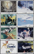 "Movie Posters:Animated, Bambi (Buena Vista, R-1982). Lobby Card Set of 8 (11"" X 14"").Animated Fantasy. Directed by James Algar, Samuel Armstrong, D...(Total: 8 Items)"