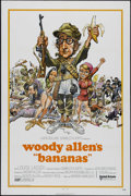 "Movie Posters:Comedy, Bananas (United Artists, 1971). One Sheet (27"" X 41""). Comedy. Directed by Woody Allen. Starring Allen, Louise Lasser, Carlo..."