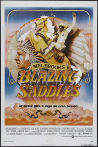 """Blazing Saddles (Warner Brothers, 1974). One Sheet (27"""" X 41""""). Western Comedy. Directed by Mel Brooks. Starri..."""