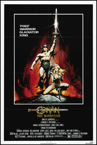 "Conan the Barbarian (Universal, 1982). One Sheet (27"" X 41""). Adventure. Directed by John Milius. Starring Arn..."