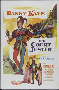 """Court Jester (Paramount, 1955). One Sheet (27"""" X 41""""). Comedy. Starring Danny Kaye, Glynis Johns, Basil Rathbo..."""