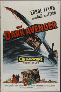 "The Dark Avenger (20th Century Fox, 1955). One Sheet (27"" X 41""). Action. Directed by Henry Levin. Starring Er..."