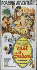 """Movie Posters:Adventure, East of Sudan (Columbia, 1964). Three Sheet (41"""" X 81""""). Adventure.Directed by Nathan Juran. Starring Anthony Quayle, Sylvi..."""