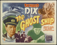 "Ghost Ship (RKO, 1943). Half Sheet (22"" X 28""). Style A. Thriller. Directed by Mark Robson. Starring Richard D..."
