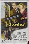 "Movie Posters:Adventure, Istanbul (Universal International, 1957). One Sheet (27"" X 41"").Drama. Directed by Joseph Pevney. Starring Errol Flynn, Cor..."