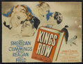 """Movie Posters:Drama, Kings Row (Warner Brothers, 1942). Title Lobby Card (9.5"""" X 12.5""""). Drama. Directed by Sam Wood. Starring Ann Sheridan, Robe..."""