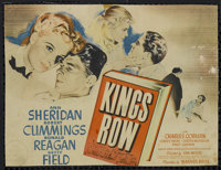 """Kings Row (Warner Brothers, 1942). Title Lobby Card (9.5"""" X 12.5""""). Drama. Directed by Sam Wood. Starring Ann..."""