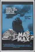 "Movie Posters:Science Fiction, Mad Max (Roadshow Film Distributors, 1979). Australian One Sheet(27"" X 40""). Action. Directed by George Miller. Starring Me..."