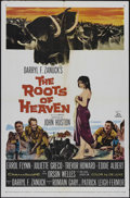 "Movie Posters:Adventure, The Roots of Heaven (Twentieth Century Fox, 1958). One Sheet (27"" X41""). Adventure. Directed by John Huston. Starring Errol..."