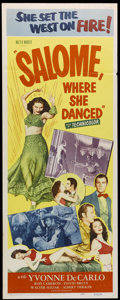 "Movie Posters:Adventure, Salome, Where She Danced (Realart, R-1953). Insert (14"" X 36"").Adventure. Directed by Charles Lamont. Starring Yvonne de Ca..."