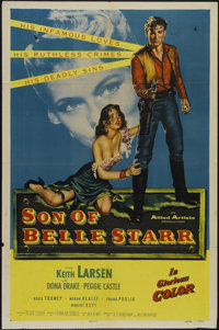 "Son of Belle Starr (Allied Artists, 1953). One Sheet (27"" X 41""). Western. Directed by Frank McDonald Starring..."
