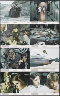 "Star Wars (20th Century Fox, 1977). Mini Lobby Card Set of 8 (8"" X 10""). Directed by George Lucas. Starring Ma..."