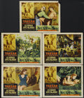 "Movie Posters:Adventure, Tarzan and the She-Devil (RKO, 1953). Lobby Cards (5) (11"" X 14"").Adventure. Directed by Kurt Neumann. Starring Lex Barker,...(Total: 5 Items)"