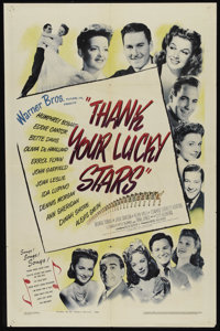 "Thank Your Lucky Stars (Warner Brothers, 1943). One Sheet (27"" X 41""). Musical. Directed by David Butler. Star..."