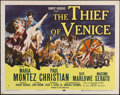 "Movie Posters:Adventure, The Thief of Venice (Twentieth Century Fox, 1952). Half Sheet (22""X 28""). Drama. Directed by John Brahm. Starring Maria Mon..."