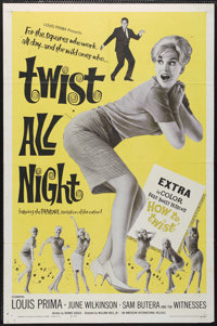 "Twist All Night (American International, 1962). One Sheet (27"" X 41""). Musical. Directed by William Hole, Jr..."