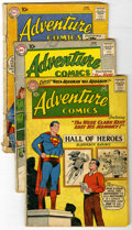 Silver Age (1956-1969):Superhero, Adventure Comics Group (DC, 1960-67) Condition: Average GD. Superboy stories are featured in most issues of this group. Incl... (Total: 14 Comic Books)