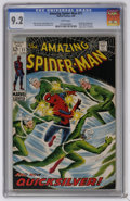 The Amazing Spider-Man #71 (Marvel, 1969) CGC NM- 9.2 White pages. Spider-Man versus Quicksilver. Scarlet Witch and Toad...