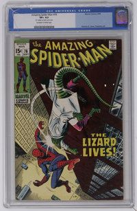 The Amazing Spider-Man #76 (Marvel, 1969) CGC VF+ 8.5 Off-white to white pages. Spider-Man versus the Lizard. John Romit...