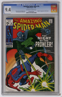 The Amazing Spider-Man #78 (Marvel, 1969) CGC NM 9.4 Off-white to white pages. First appearance and origin of the Prowle...