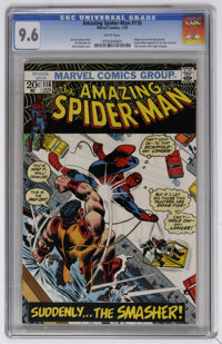 The Amazing Spider-Man #116 (Marvel, 1973) CGC NM+ 9.6 White pages. Adapts story from Spectacular Spider-Man (magazine)...