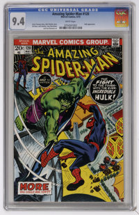 The Amazing Spider-Man #120 (Marvel, 1973) CGC NM 9.4 White pages. Spider-Man versus Incredible Hulk. John Romita Sr. co...